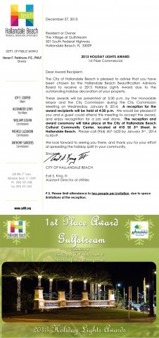 1st Place Lighting Award: Gulfstream Park Racing & Casino